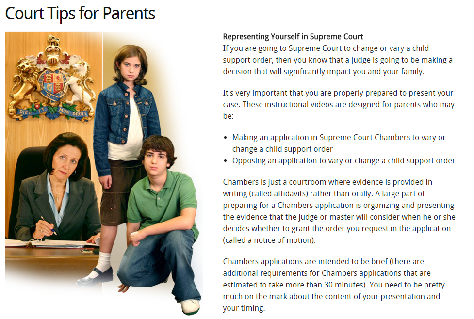 Court Tips for Parents